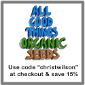 All Good thing Organic seeds save 15% with code christwilson