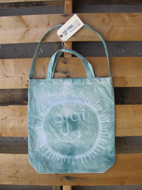 ojai face, christwilson, rainbow bridge, tie dye tote bags, organic