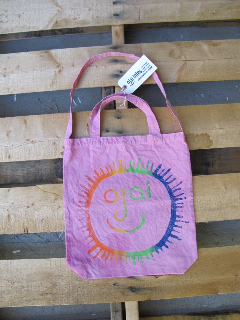 ojai face, organic tote, Ojai, chris wilson, rainbow bridge