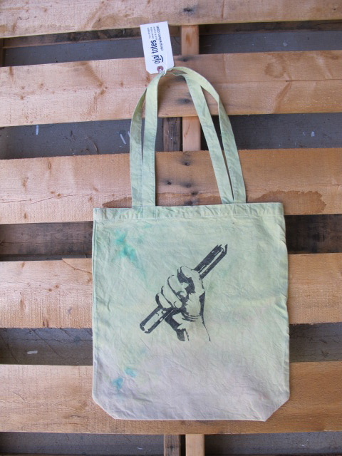 organic cotton tote bag, tie dye, rainbow bridge, christwilson