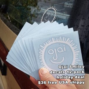 Ojai, Decal, Ojai Face, Ojai sticker,
